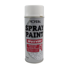 Spuitbus spray paint Ral 9010 hoogglans 400 ml