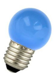 Bailey led kogel 1W E27 blauw