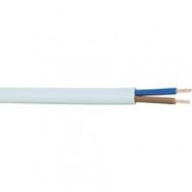 Vmvs snoer ovaal/plat 100 meter 2x0.75mm wit