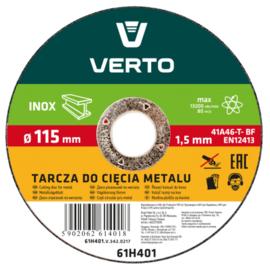 Verto doorslijpschijf 125 x 1mm staal/RVS