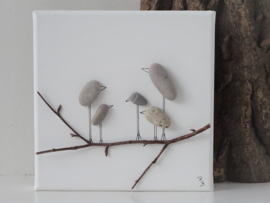 Rocking Birds 20 x 20 cm