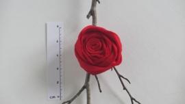 Vilten roos broche / haarspeld
