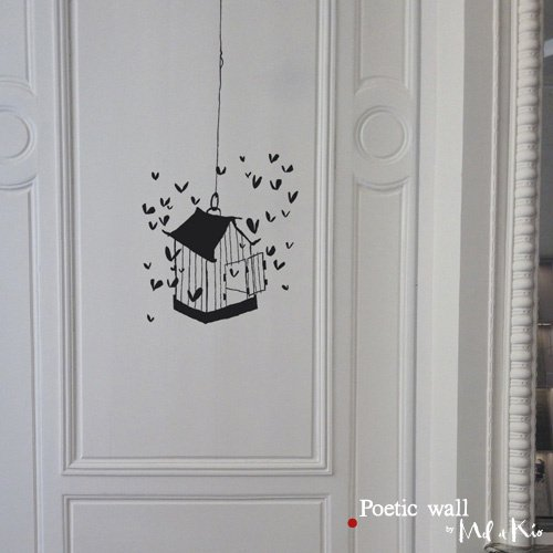 """Sticker """"La cage aux couers"""""""