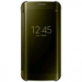 Samsung Clear View Cover voor Galaxy S6 Edge - Goud