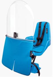 Bobike – Mini Classic Fietsstoeltje met Kussenset  + Windscherm - True Blue