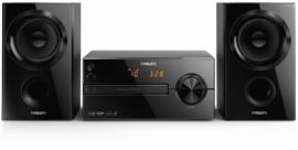 Philips Micromuzieksysteem Bluetooth, MP3, CD, USB 30 Watt - Zwart