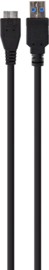 XQISIT Micro-USB 3.0 Datakabel - Zwart
