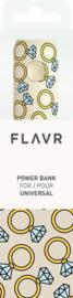 Flavr Power Bank 2600 mAh- Diamond Rings
