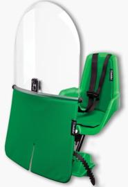 Bobike – Mini Classic Fietsstoeltje met Kussenset  + Windscherm - Groen