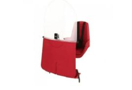 Bobike – Mini Classic Fietsstoeltje met Kussenset  + Windscherm - Rood