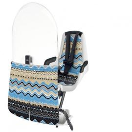Bobike – Mini Classic Fietsstoeltje met Kussenset  + Windscherm - Man Tribe