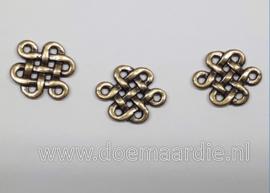 Keltisch tussenzetsel, oud brons/antiek messing