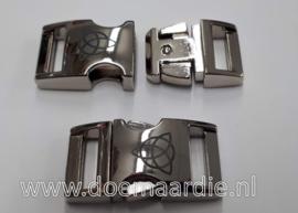 Buckle silver, Keltisch infinity symbool. (5/8)