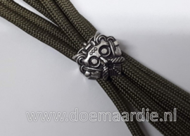 Viking kraal, runen, oud zilver, licht brons/goud