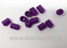 Stoppers elastiek/type 1, paars per 10