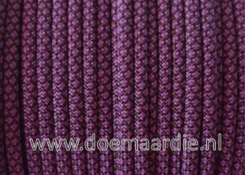 Paracord 550 Diamond Acid Purple/Black, vanaf 27 cent per meter.
