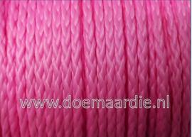 PP gevlochten multi koord, fel roze 3 mm, 50 meter