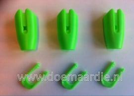 Touwklem, riemklem, groen 8-10 mm.