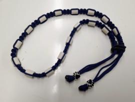 Tekenhalsband midnight blue, ong 50 cm.