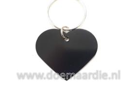 Penning hart, zwart