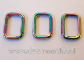 Rechthoekige ring, Fuel, gelast. 16 mm.