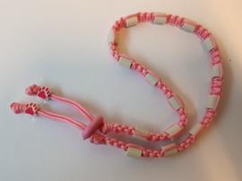Tekenhalsband 48 cm, roze.