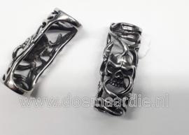 Skull armband kraal RVS groot gat
