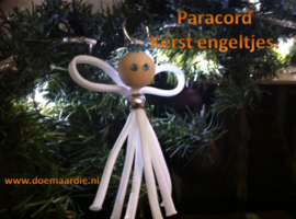 Kerst engeltjes van paracord maken.