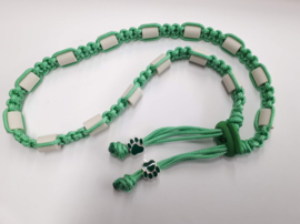 Tekenhalsband mint groen,  48 cm.