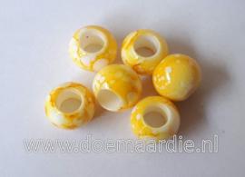 Kraal, verschillende tinten geel. Per 20.