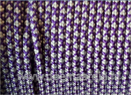 Paracord bundel 550 acid purple silver, 6 / 15  / 30 meter.