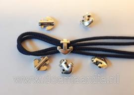 DQ schuifkraal, anker, zilver
