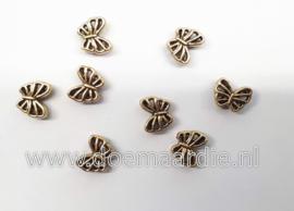 Schuifkraal vlinder per 15, oud goud