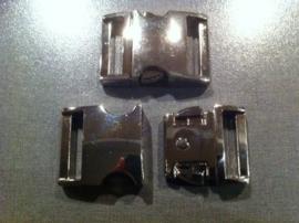 Silver metal, klikgesp, large (3/4).
