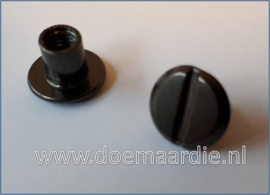 Boekschroef per 10, black/gun 10 mm.