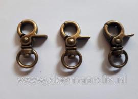 Trigger sleutelhanger brons, 32 mm.