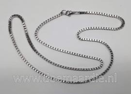 RVS ketting, schakel, 56 cm