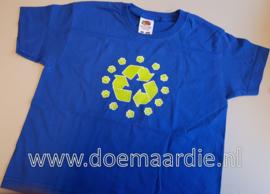 recycling shirt, blauw. maat 104