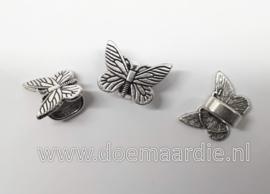 Metalen kraal, vlinder