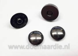 Magnetische drukknoop, gun metal