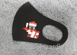 Kerst mondmasker met hondje