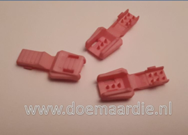 Zipper cord end, roze.
