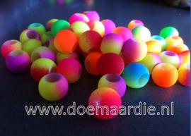 Regenboog neon kralen, gat 5 mm, per 20!!!