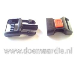 Steeksluiting met rode punt maat S,, doorvoer 16 mm.