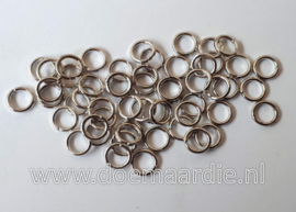 Montage ringetje, nickel zilver. binnenmaat 3,5 mm (+/- 145 stuks).