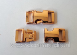 Buckle rose gold metal, klikgesp, mini. vanaf 2,00 per stuk. (3/8)
