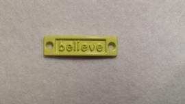 Love / Believe / Best friend - geel