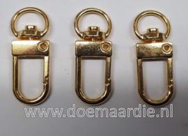 Sleutelhanger goud 33 mm