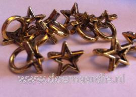 Kraal met ster, oud goudkleur.
