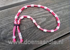 Keramiek teken halsband met naam.
